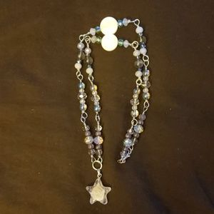 Quartz star necklace